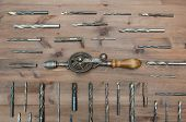 foto of hammer drill  - Old working tools - JPG