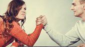 picture of wrestling  - Partnership relationship concept - JPG