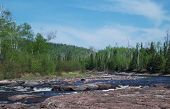 foto of shoreline  - The north shoreline along Lake Superior in northern Minnesota  - JPG