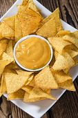 picture of nachos  - Nachos with Cheese Dip  - JPG