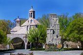 stock photo of armenia  - Photo of the church and khachkar cross - JPG