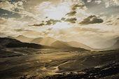 image of karakoram  - Sunrise over mountain peak Northern area of Pakistan - JPG