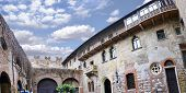 image of juliet  - Panorama of House of Romeo and Juliet balcony in Verona Italy - JPG