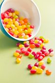 foto of jelly beans  - jelly beans on green table - JPG