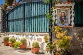 pic of altar  - Canarian religious altar at the entrance to one of the homes in Gran Canaria - JPG