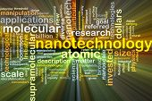 image of nanotechnology  - Background concept wordcloud illustration of nanotechnology glowing light - JPG