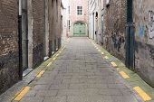 pic of paving stone  - Empty and Paved Stone Alleyway with No People - JPG