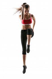 stock photo of fitness  - Fitness woman aerobics - JPG