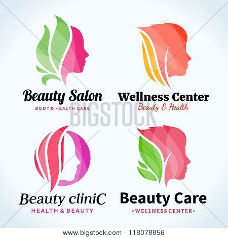 poster of Beauty Salon Logo, Icons And Design Elements