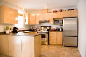 foto of kitchen appliance  - modern day kitchen with stainless steel appliances - JPG