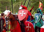 Ritter auf einem Turnier.