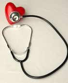 Stethoscope Examines A Heart