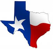 stock photo of texas flag  - MAp of Texas - JPG
