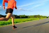Man Running On Country Road, Training Inspiration And Motivation poster
