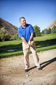Mature Male Golfer