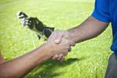 Golfers Shaking Hands