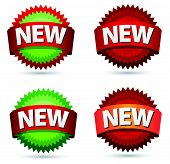 New sign icons stars for web design