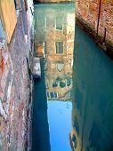 Venice Alleyway Reflection