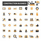 Постер, плакат: construction icons construction logo factory icons vector factory flat illustration concept fact