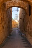 foto of olden days  - Street in old European town  - JPG