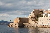 foto of hydra  - Walled town on the shore of Hydra island Greece - JPG