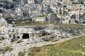 Paleolithic cave. Matera. Basilicata.