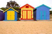 Strand Felder auf Brighton beach