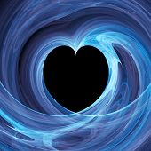 Blue Heart Hole In Twirl