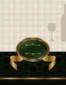 Gold Wine Label