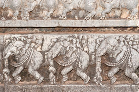 image of belur  - A section from the world famous hoysala architecture in India - JPG