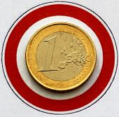 Euro in a prohibition sign