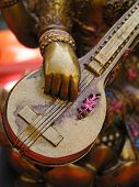 stock photo of saraswati  - Close up shot of a Saraswati statue  - JPG