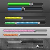 Web Design Elements: Slider Bars. Vector Illustration
