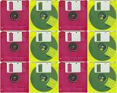 Collage whit micro floppy disc
