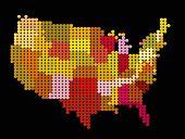 Vector stylization of USA map