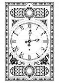 picture of tick tock  - elegant victorian clock face and hands with decorative elements - JPG
