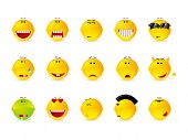vector yellow smile on white background