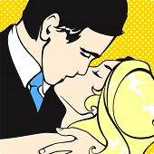 foto of pop art  - Kissing couple - JPG