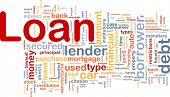 Background concept wordcloud illustration of loan