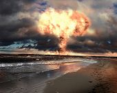 foto of nuke  - Nuclear explosion in an outdoor setting - JPG
