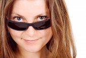 Cute Girl Wearing Sunglasses poster