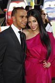 LOS ANGELES - JUNE 18: Lewis Hamilton, Nicole Scherzinger at the Premiere of Walt Disney Pictures' '