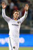 CARSON, CA. - APRIL 23: Los Angeles Galaxy M David Beckham #23 during the MLS game between the Portl