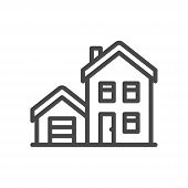 House Icon Isolated On White Background. House Icon In Trendy Design Style For Web Site And Mobile A poster