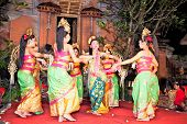 BALI - JANUARY 24: Legong Dance & Ramayana by the Bina Remaja Troupe . Ubud is the home of tradition