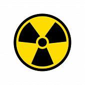 Radioactive Icon Nuclear Symbol. Uranium Reactor Radiation Hazard. Radioactive Toxic Danger Sign Des poster