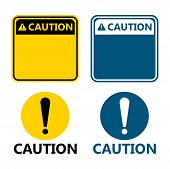 Symbol Yellow Caution Sign Icon,exclamation Mark ,warning Dangerous Icon On White Background poster