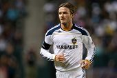 CARSON, CA. - SEP 9: Los Angeles Galaxy M David Beckham #23 during the MLS game between the Colorado