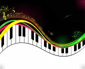 Black piano music background