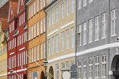 Traditional Colorful Facades In Copenhagen City Center. Nyhavn Area. Denmark poster